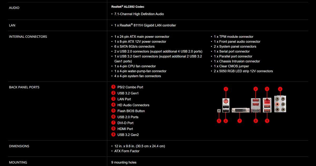 Spec-03 B450 GAMING PLUS MAX