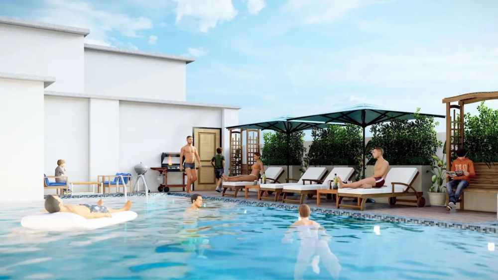 Heated Swimming pool Atmosphere Happy Homes - Flats In Siliguri