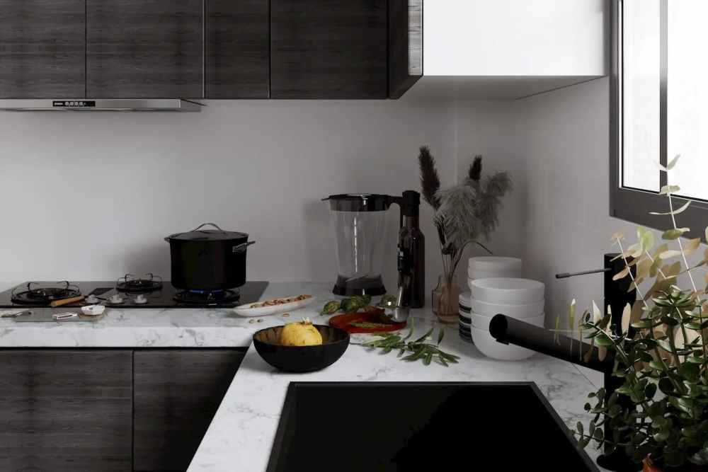 Kitchen Slab View Atmosphere Happy Homes - Flats In Siliguri