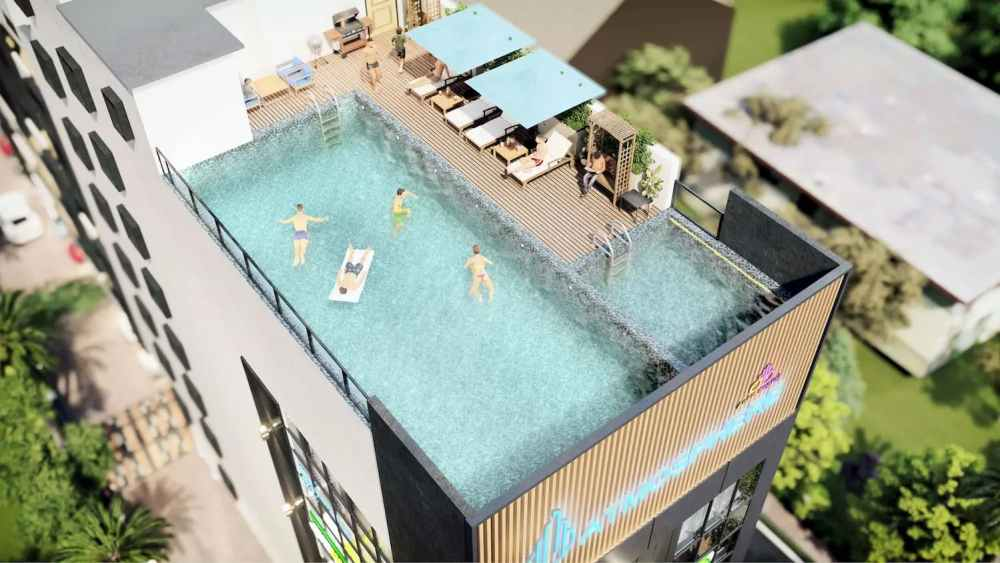 Swimming Pool Of Atmosphere Happy Homes - Flats In Siliguri