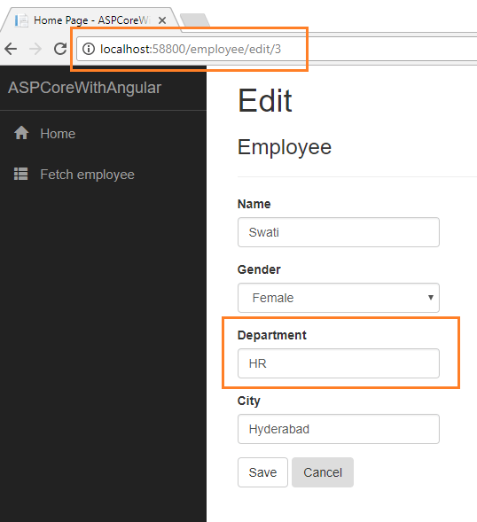 CRUD Operations With ASP NET Core Using Angular 5 and ADO