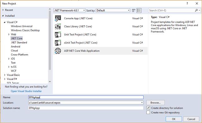 ASP NET Core - CRUD Using Angular 5 And Entity Framework Core