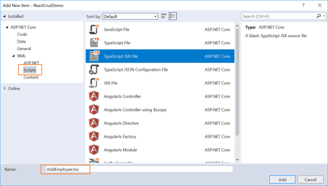 ASP NET Core: CRUD With React js and Entity Framework Core - DZone