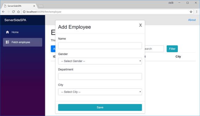 Single Page Application Using Server-Side Blazor - Ankit