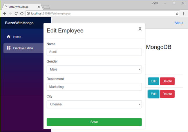 Blazor CRUD With MongoDB