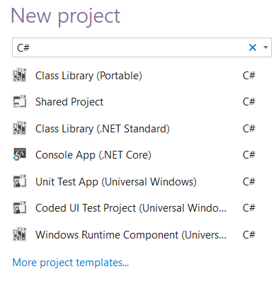 New Project template - Search.PNG