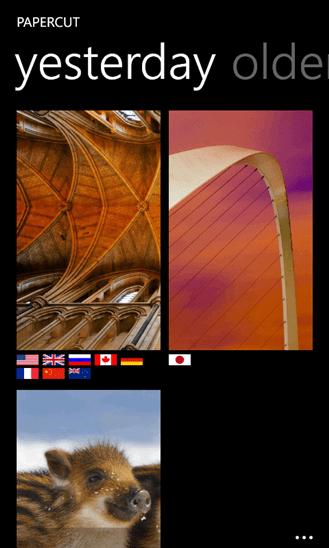 Papercut Set Bing Background As Wallpaper On Windows Phone