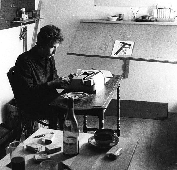 bob dylan machine à écrire