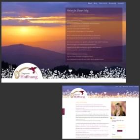 Website für Diagnose: Hoffnung