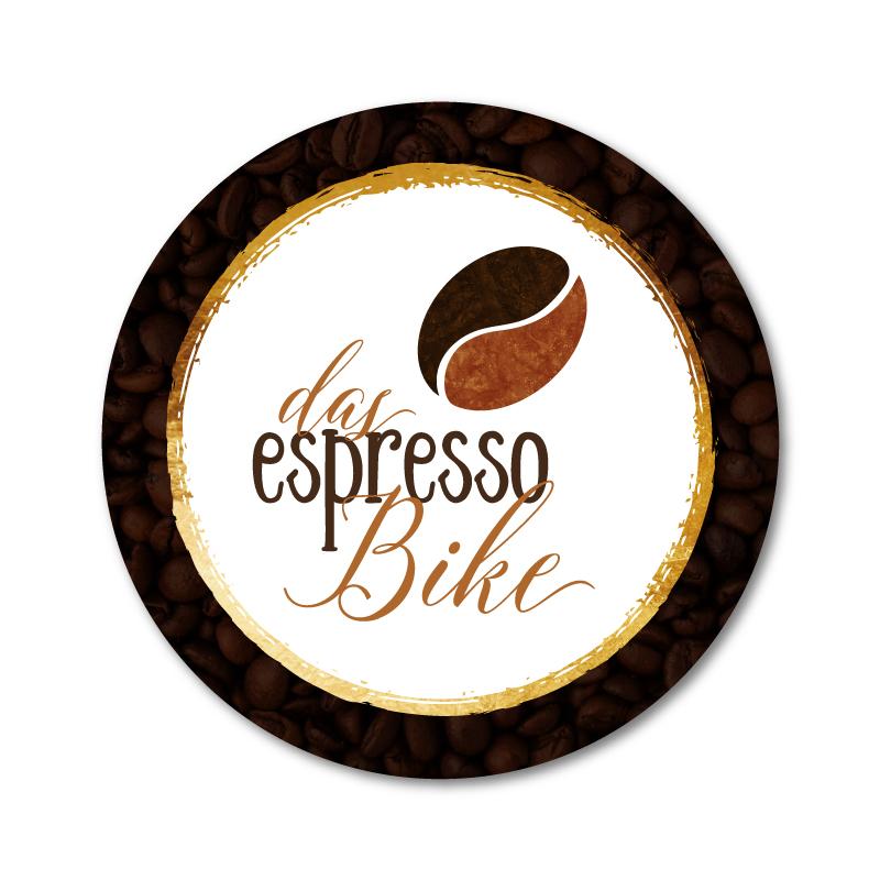 Aufkleber für das espressoBike Kaffeedosen