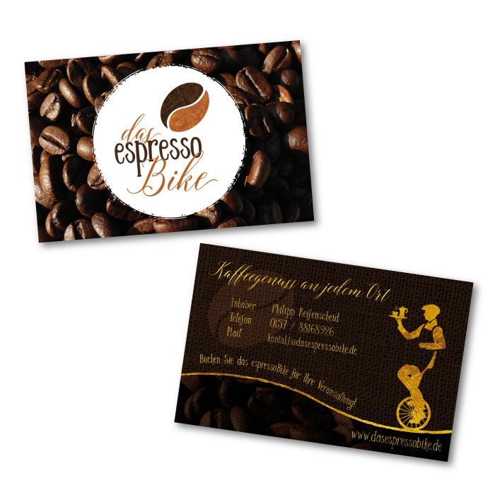 Visitenkarten für das espressoBike