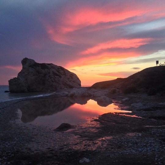 Cyprus Petra tou Romiou Sunset