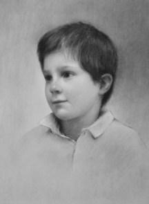 Marmaduke Grylls. Charcoal on paper.