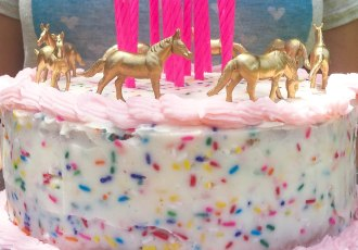 Gold figurine cake topper