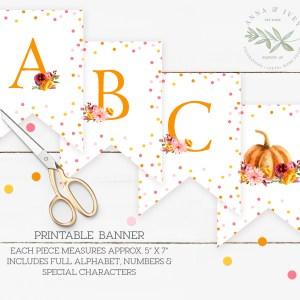 Printable Little Pumpkin Banner