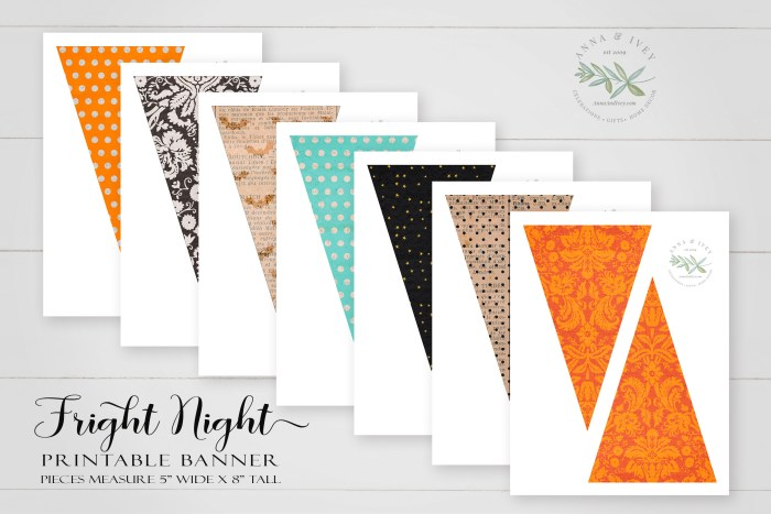 Printable Fright Night Pennant Banner