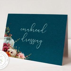 Printable Teal Pumpkins Buffet/Place Cards