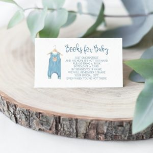 Printable Books for Baby Card- Blue Onesie