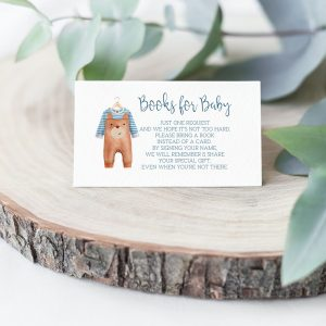 Printable Books for Baby Card- Brown Onesie