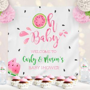 Vinyl Watermelon Baby Shower Backdrop