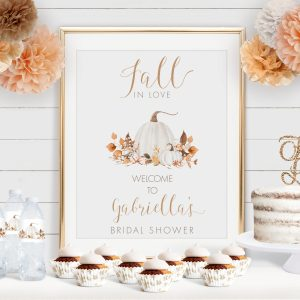 Printable Ivory Pumpkins Bridal Shower Poster