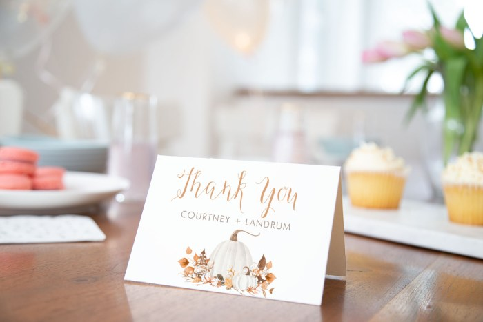 Printable Ivory Pumpkins Thank You Card
