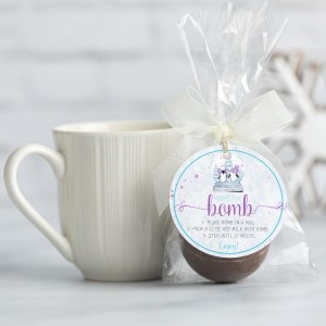 Printable Penguin Hot Cocoa Bomb Tag