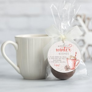 Printable Warm Wishes Hot Cocoa Bomb Tag