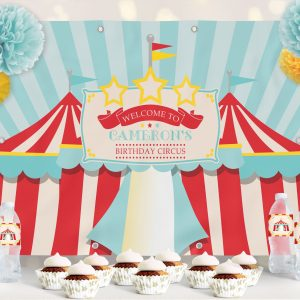 Printable Circus/Carnival Backdrop- Dark Red- 4 x 6