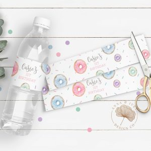 Printable Donut Party Drink Labels