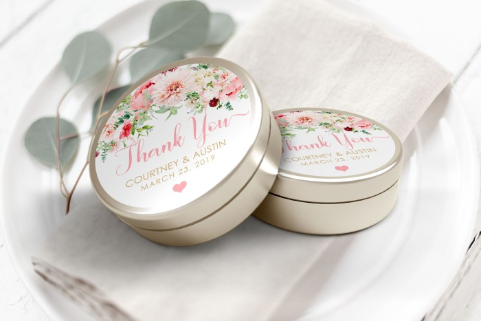 """Printable Pink Floral Thank You Labels/Tags- 3"""" Inch"""