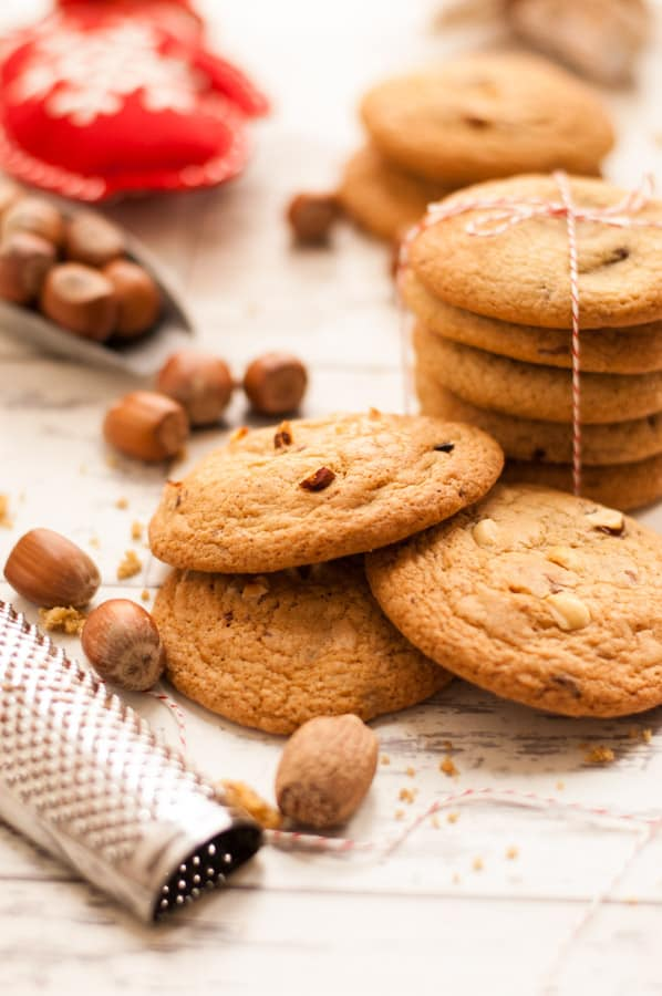 Nutmeg Cookies Chocolate and Hazelnuts