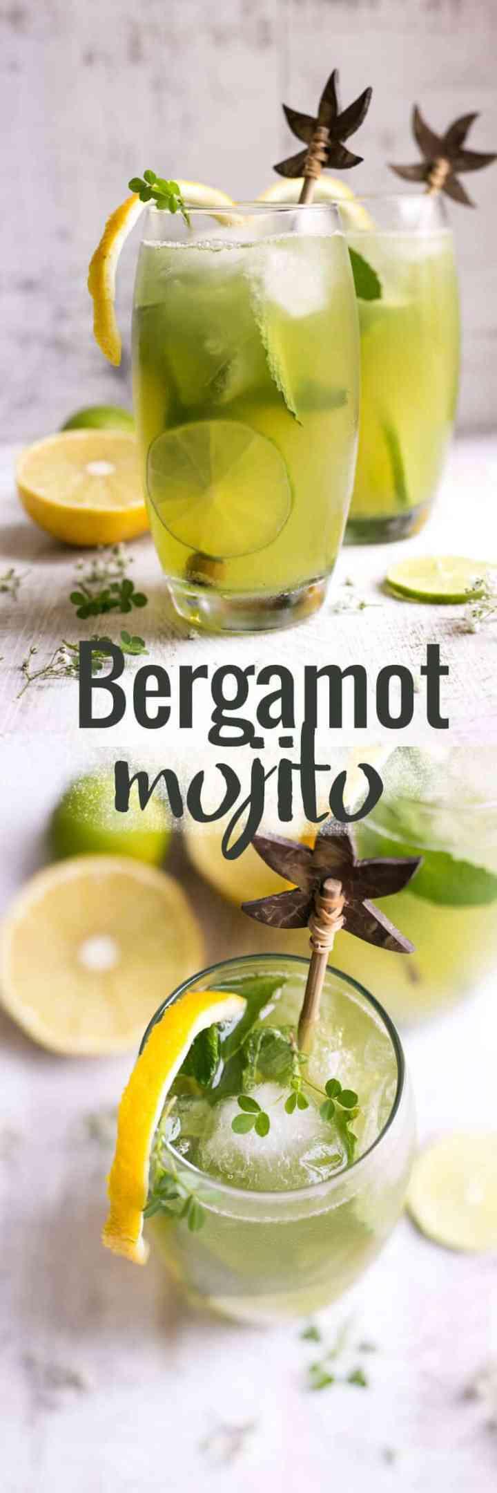 Beautifully fragrant bergamot mojito with fresh mint and Sorrento lemons | via @annabanana.co