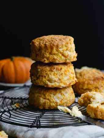 Delicious pumpkin and cheese scones