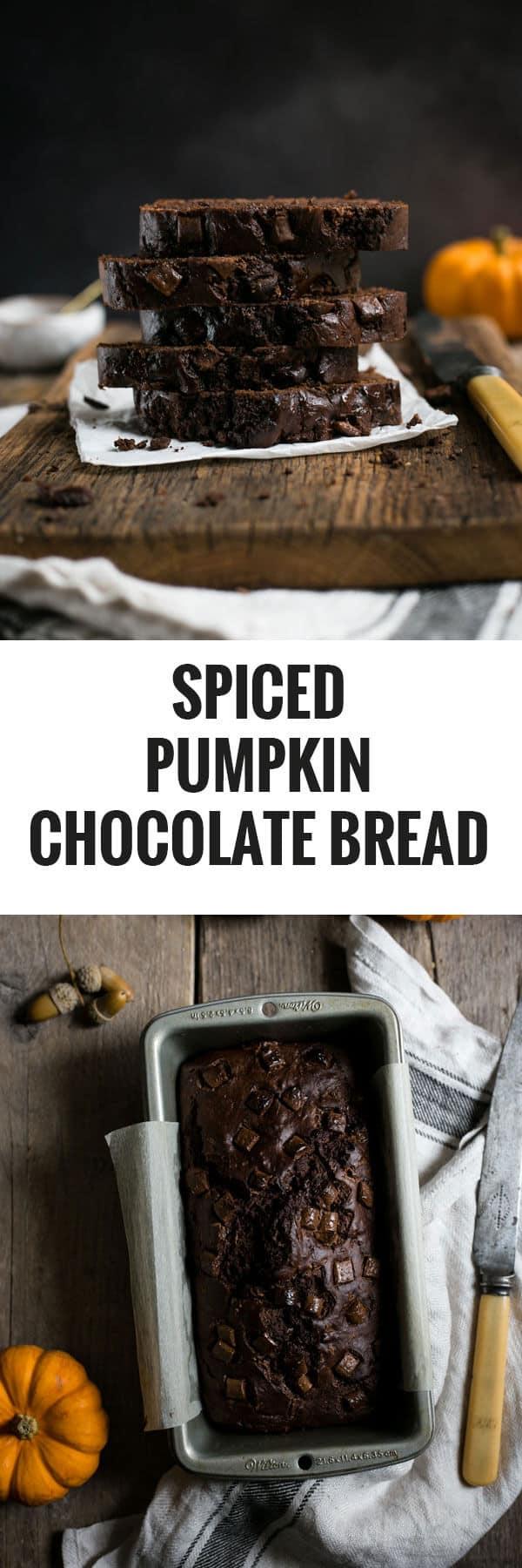 Spiced pumpkin chocolate bread. Extremely tasty, moist and #vegan friendly! #pumpkin #chocolate | via @annabanana.co