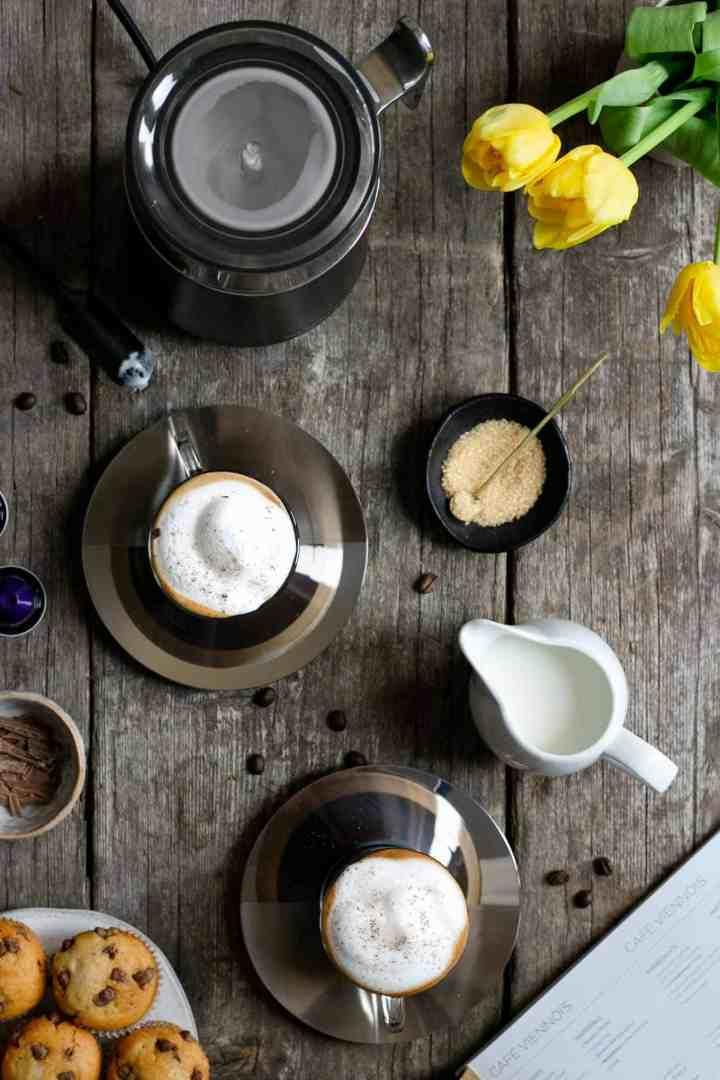 Nespresso coffee- light and creamy cafe viennois #coffee #coffeerecipes | via @annabanana.co