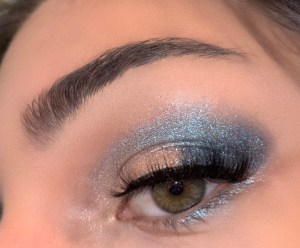 Blue Atlantis Glittery Makeup Tutorial, Products and Inspiration