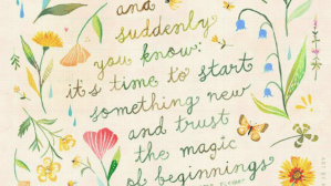 How to trust the magic of new beginnings