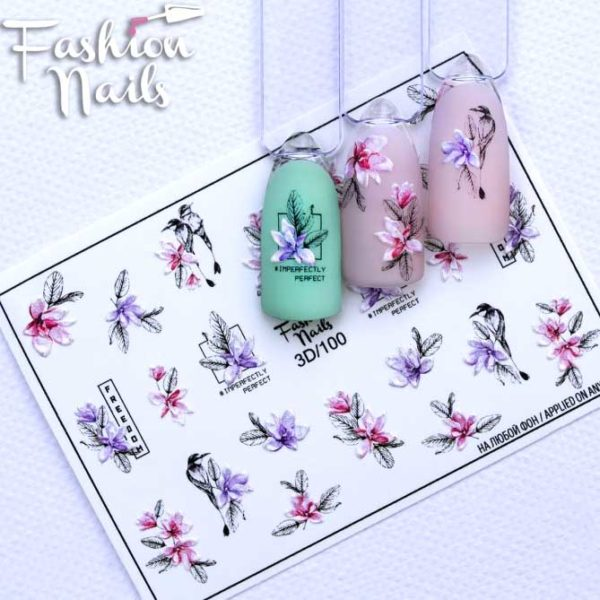 Fashion Nails, Слайдер дизайн 3D-100