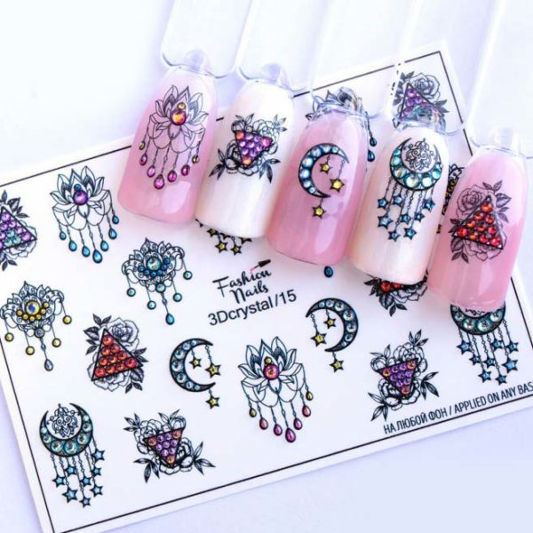 Fashion Nails, Слайдер дизайн 3Dcrystal-15