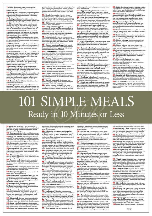 101 recipes idea 5