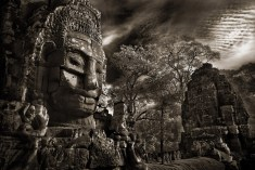 Bayon Face and Clouds