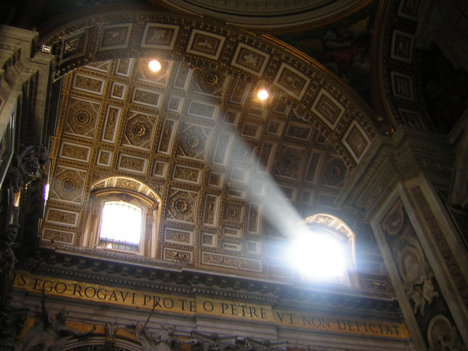 Sun Streaming Through St. Peter's Basilica in Rome