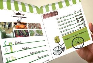 Plaquette Mon Cuisinier restaurant/traiteur à Montpellier
