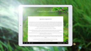 """Page """"formations et ateliers"""" sur le site de massage de Colline Trilles - Masseuse à Sommières - version tablette"""