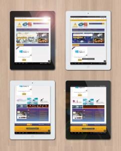 Présentation web design responsive sur tablette du site fortimelp.fr
