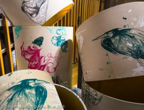 Beautiful lampshades by Claire Murray