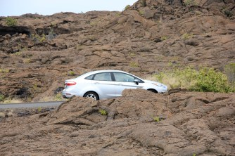 Hawaii Big Island - our Ford Fiesta at Volcanoes National Park