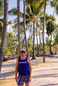 Hawaii Big Island - Ben at Pu'uhonua o Honaunau Historical Park