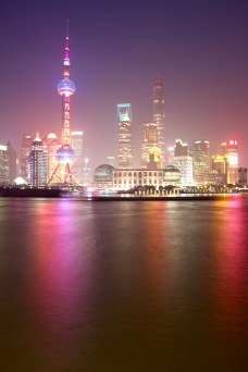 Night shot of Pudong from the Bund